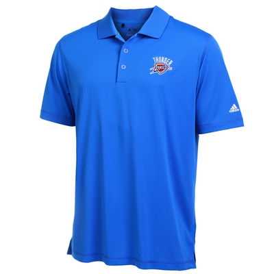online retailer 4a0cc 9dfdc Men's Oklahoma City Thunder Adidas Royal Blue Puremotion Solid Jersey Polo